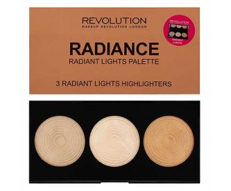 Revolution Палитра 3-х хайлайтеров для лица Highlighter Palette Radiance